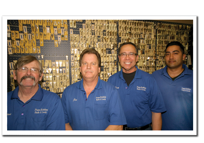 the staff of paso robles sfe and lock service paso robles, atascadero, templeton, hunter ligget, camp roberts, san miguel, cambria and all of san luis obispo
